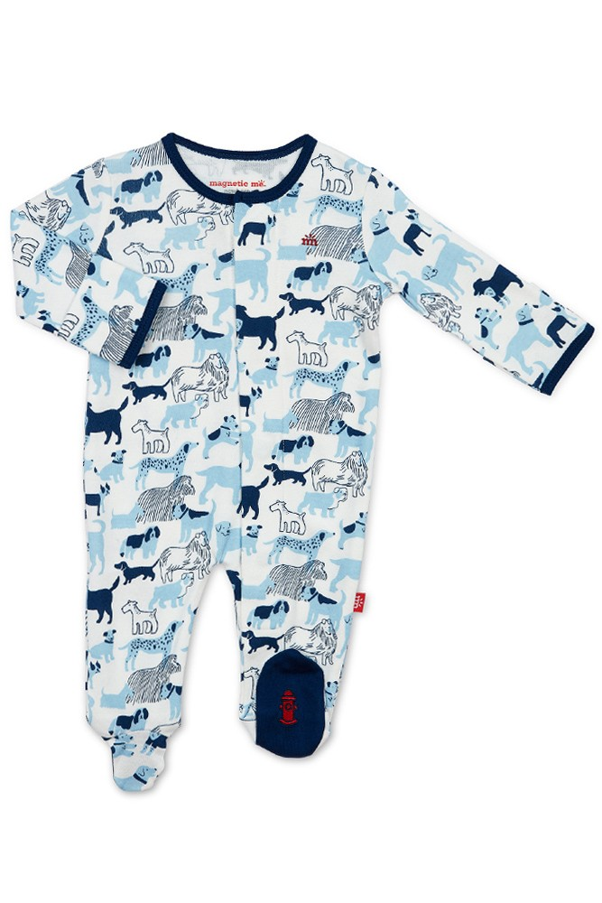 Magnetic Me 100/% Organic Cotton Magnetic Baby Footie