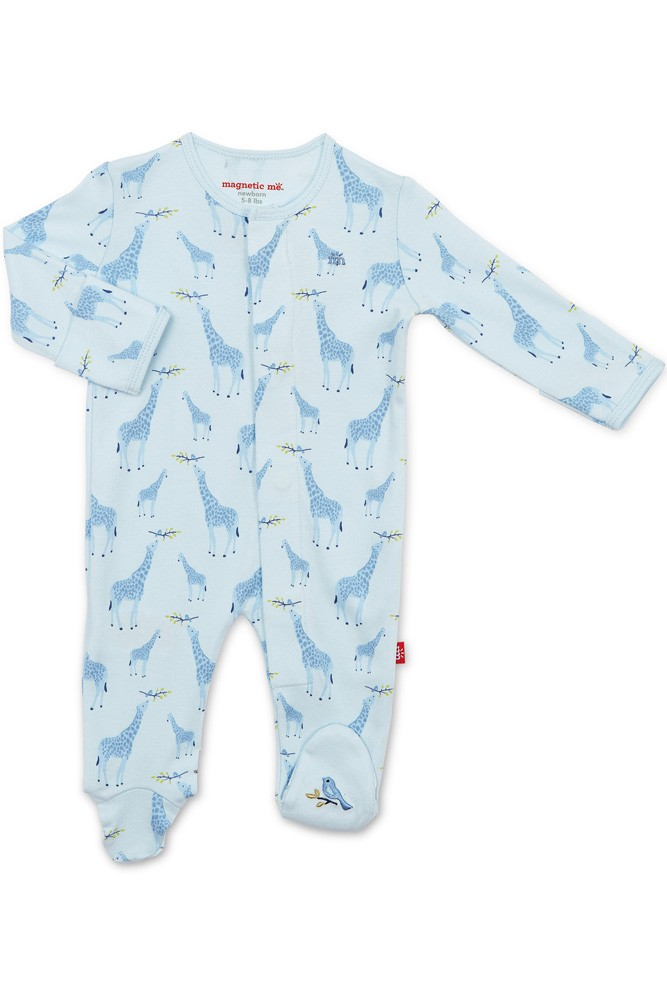 Magnetic Me Magnificent Baby Organic Cotton Baby Footie 3-6M