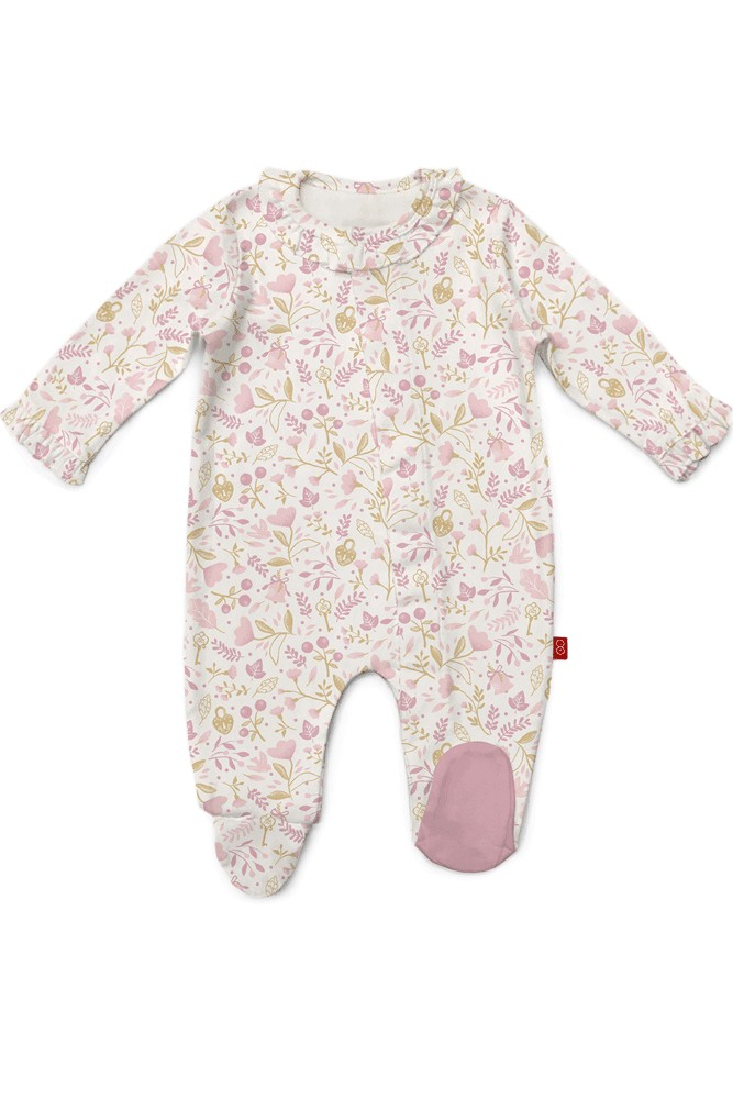 Magnificent Baby Magnetic Me™ Cotton Holly Beary Footie (Holly Beary)