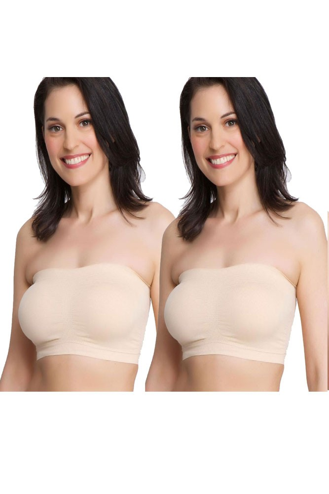 cc2859c06141c3 La Leche League Seamless Strapless Nursing Bra - 2-Pack in Nude by ...