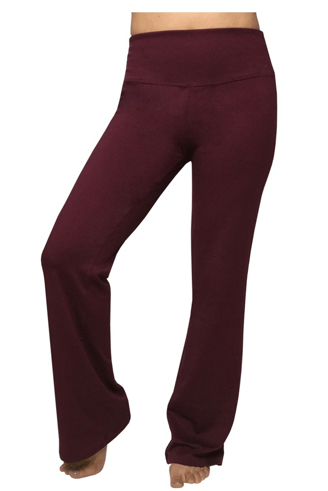 The Asanas Athleisure Bootcut Pant by Majamas (Zinfandel)