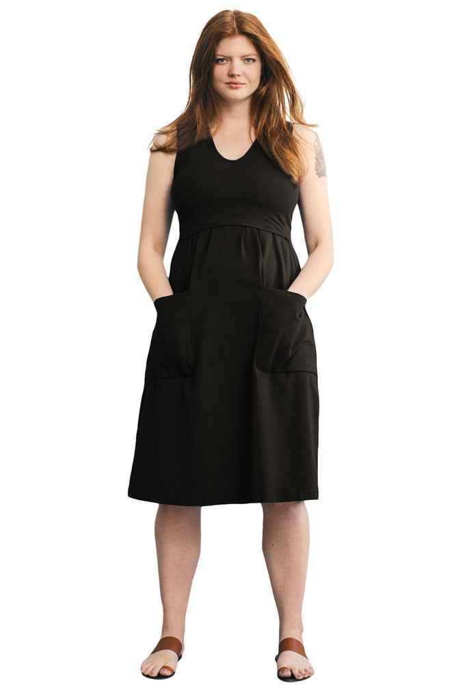 87cb2f24b2f The Depot Organic Maternity   Nursing Dress in Black by Boob Design