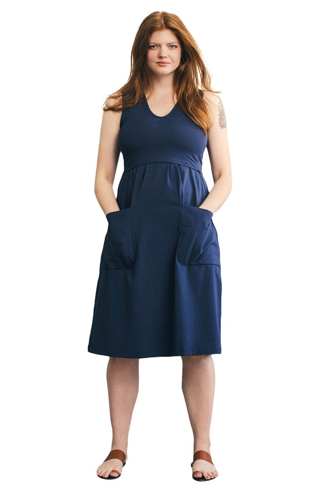 8e994b8de185 The Depot Organic Maternity   Nursing Dress in Midnight by Boob Design
