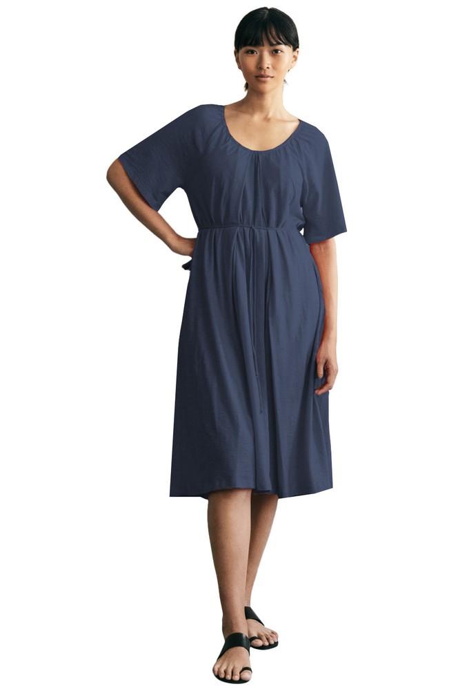 11ffa0b1df3a0 Boob Design Breeze Organic Cotton Slub Multi-Way Maternity & Nursing Dress  (Midnight Blue