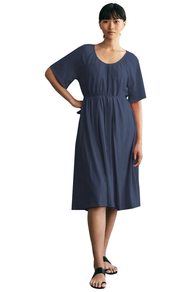 Boob Design Breeze Organic Cotton Slub Multi-Way Maternity & Nursing Dress (Midnight Blue)
