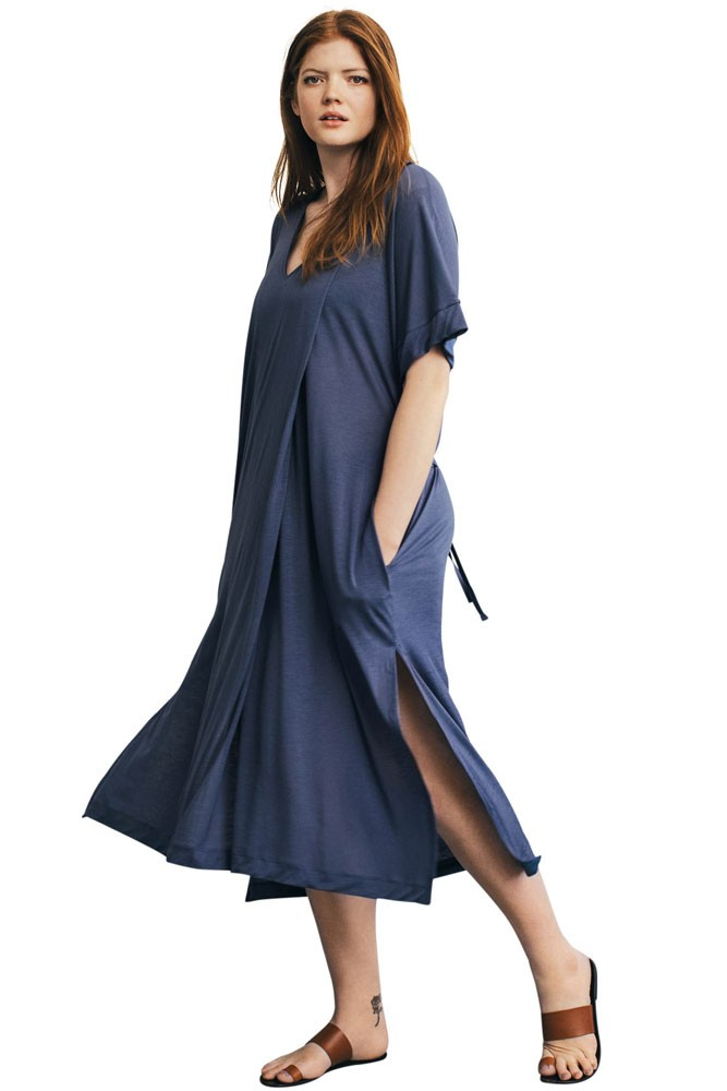 2225daa2e2a8c Scirocco Relaxed Maternity & Nursing Dress in Vintage Indigo by Boob Design