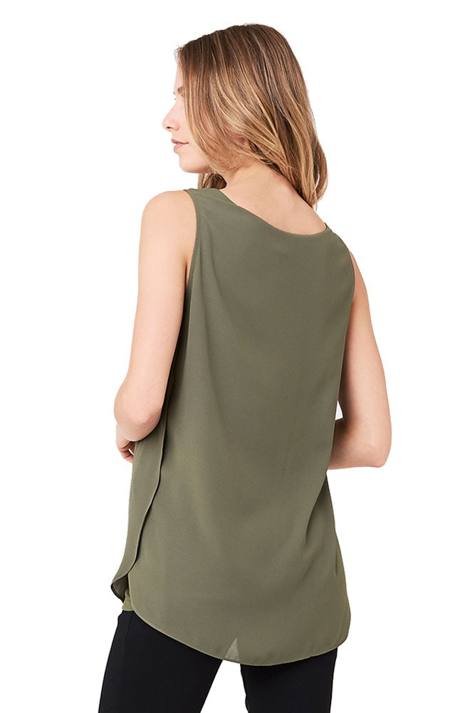 4ffb03a7555 Charlotte Woven Nursing Top in Olive by Ripe Maternity