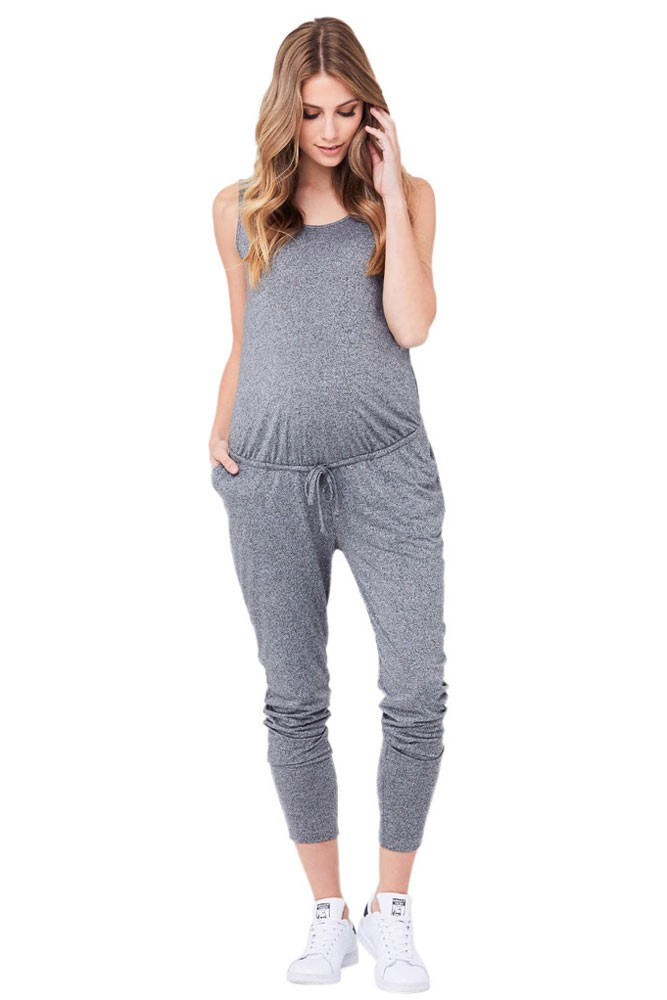 Ripe Relaxed Fit Jersey Jumpsuit (Grey Marle)