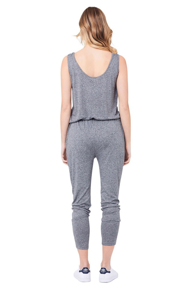56335050fa5 Ripe Relaxed Fit Jersey Jumpsuit in Grey Marle by Ripe Maternity