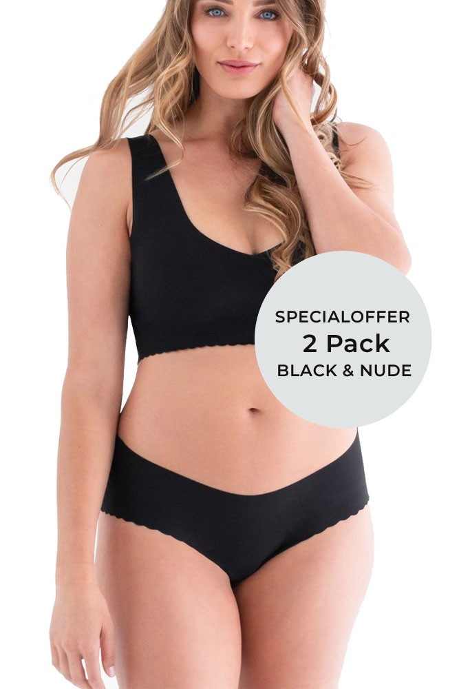 d3a83ed12b0fd Anti Panti® by Belly Bandit® - 2 Pack in Black & Nude