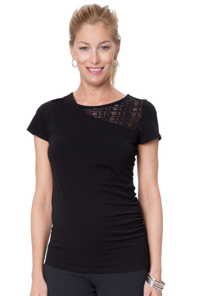 78cef65dc0139 City Maternity & Nursing Top in Black by Stowaway Collection Maternity