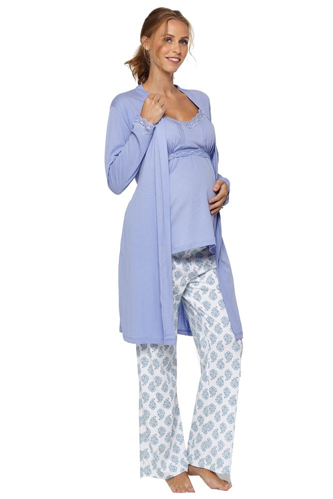 Belabumbum Womens Violette Maternity and Nursing Robe